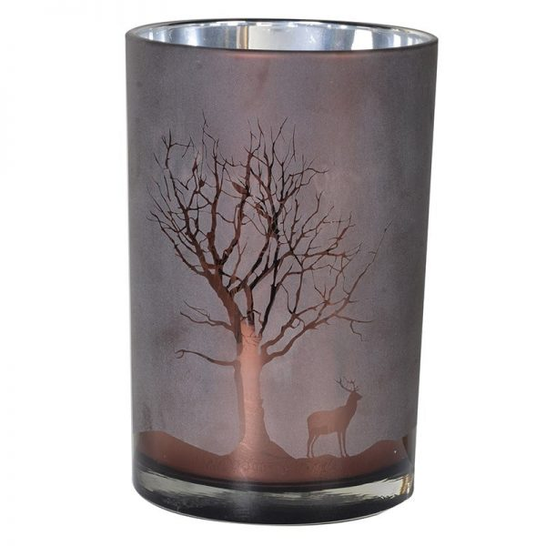 Frosted Chocolate Medium Tree Candleholder