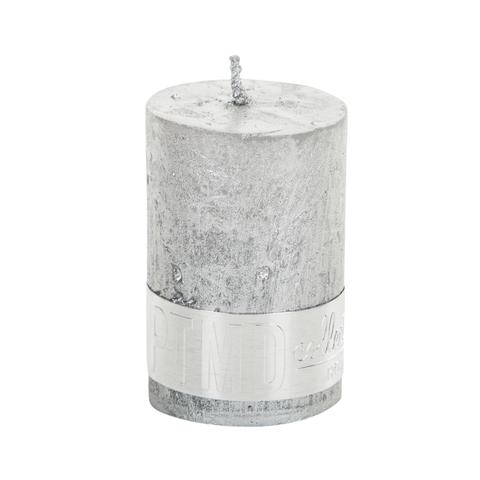 PTMD Metallic Shades Pillar Candle (6x4cm) X Small