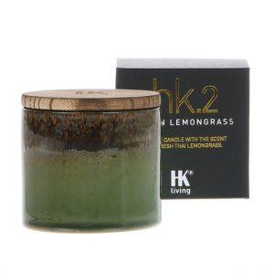 HK.2 Ceramic Pot Soy Candle Asian Lemongrass Scent