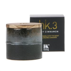 HK.3 Ceramic Pot Soy Candle Spicy Cinnamon Scent