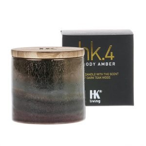 HK.4 Ceramic Port Candle Soy with Woody Amber Scent