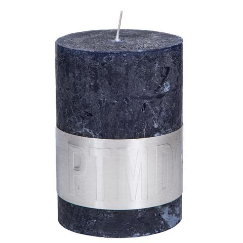 PTMD Rustic Dark Shades Pillar Candle (10x7cm) Large Night Blue