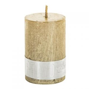 PTMD Metallic Shades Pillar Candle (6x4cm) X Small Gold