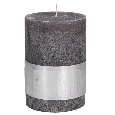 PTMD Rustic Dark Shades Pillar Candle (10x7cm) Large Swish Grey