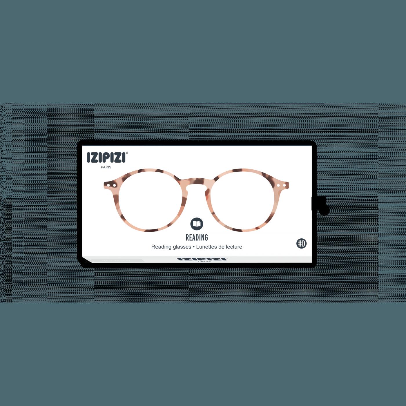 Izipizi #D  Reading Glasses (Spectacles) in Light Tortoise