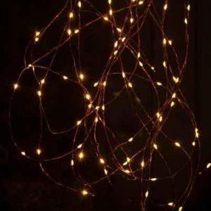 Christmas Dew Drop Amber LED Lights