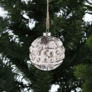 Christmas Glass Distressed Spot Ball