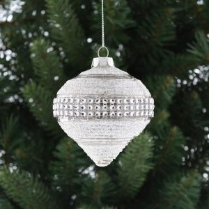 Christmas Diamond Band Glass Ball