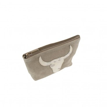 Bull Head Make Up Bag Beige