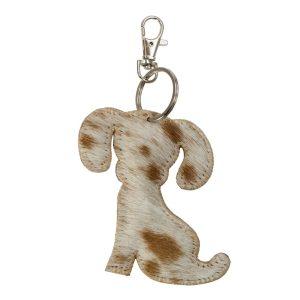 Dog Key Ring Brown