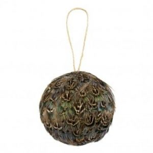 Pheasant Feathers Christmas Bauble