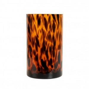 Panther Amber Glass Tea Light Holder Large