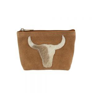 Bull Head Make Up Bag Brown