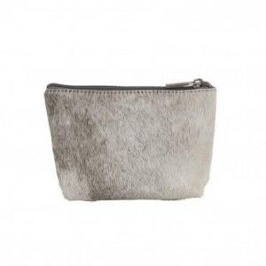 Cow Hide Make Up Bag Grey