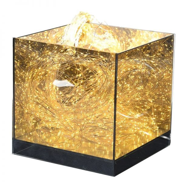 Square Mirrored Display Cube