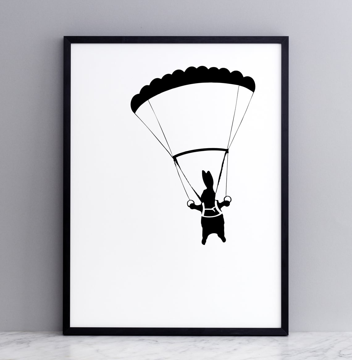 Parachuting Rabbit Print