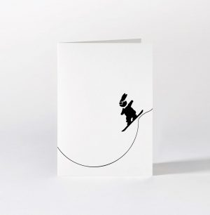 Snowboarding Rabbit Card