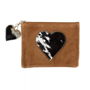 Black Heart Hide Pouch