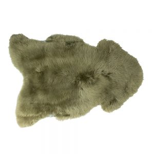 Icelandic Rare Breed Sheepskin Rug Olive Green