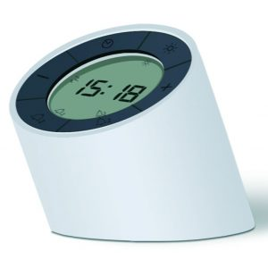 The Edge Light Alarm Clock White