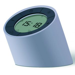 The Edge Light Alarm Clock Grey