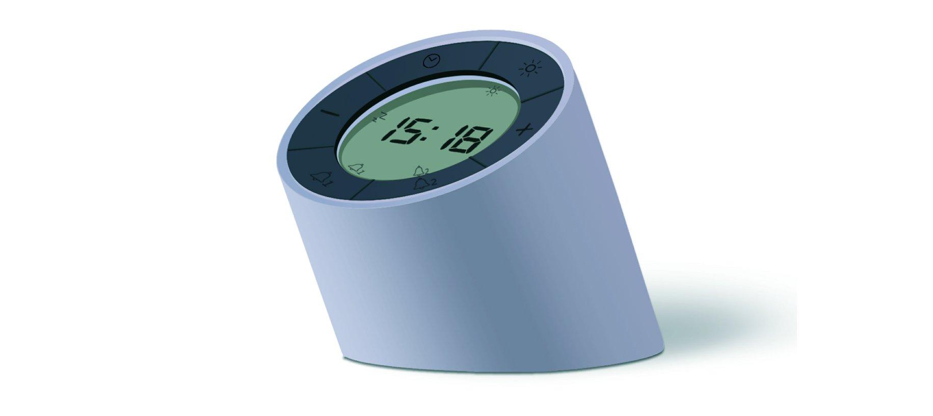The Edge Light Alarm Clock Grey
