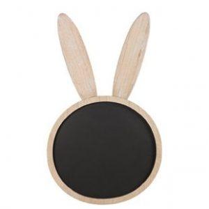 Rabbit Chalkboard in Natural Wood Frame
