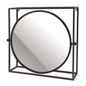 Metal Mirror Round Framed