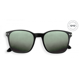 Izipizi Sun Nautic Sunglasses in Black with Polarised Green Lenses