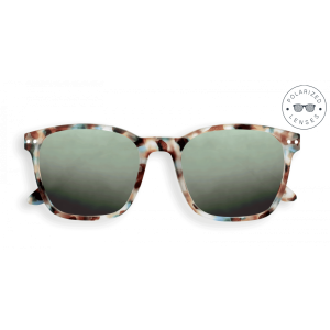 Izipizi Sun Nautic Sunglasses in Blue Tortoise with Polarised Green Lenses