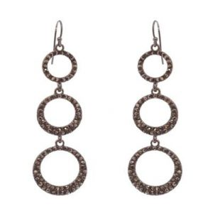 Belle & Flo Crystal Trio Open Loop Earrings