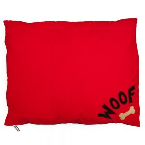 Red Woof Dog Bed Medium