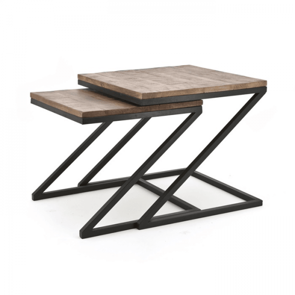 Zig Zag Coffee Tables Set of Two