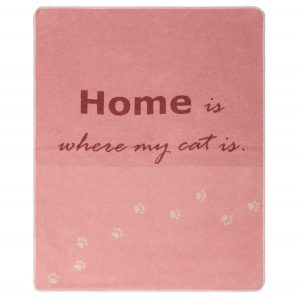 Cat Blanket 'Home is where my cat is'