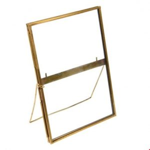 Brass Standing Gallery Style Photo Frame 18x13cm