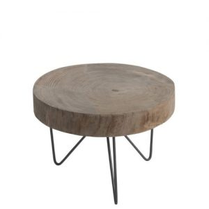 Natural Wood Slice Side Table
