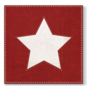 Christmas Red Star 20 Paper Napkins