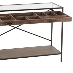 Wood & Metal Divide Console Table