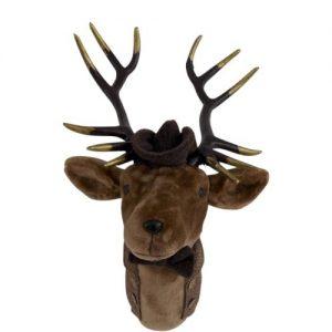 Small Velvet Brown Deer Head Wall Mount
