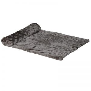 Taupe Faux Fur Throw