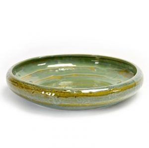 Olive Green Taboulet Stoneware Serving Plate