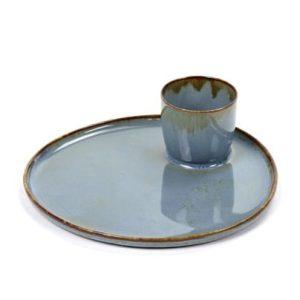 Tapas Plate Smokey Blue