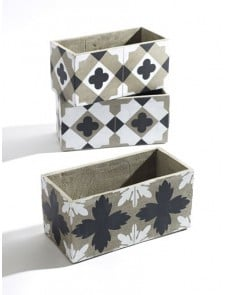 Planters Set of 3 Black and White