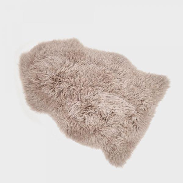 Silky Sheepskin Rug Taupe