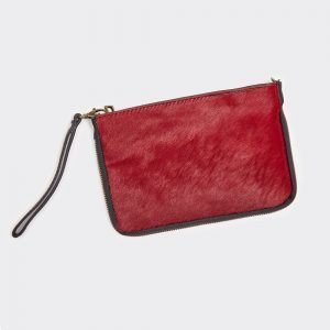 Red Leather & Hide 2 Way Bag