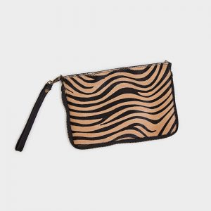 Leather & Tiger Print Hide 2 Way Bag