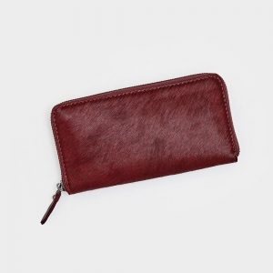 Leather & Berry Hide Zip Purse