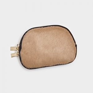 Leather & Taupe Hide Coin Purse