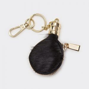 Black Hide Coin Purse Keyring