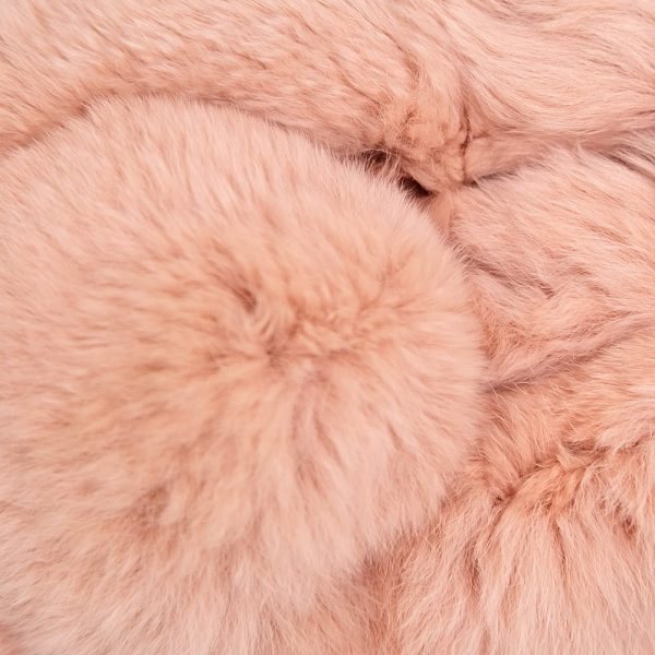 Fur Scarf with Ball Pink